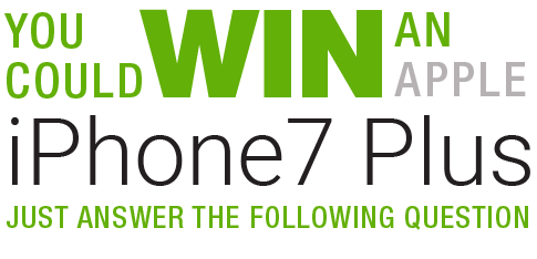 Win an iPhone 7 by answering the following question
